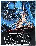 Lasgo - Placa metálica Star Wars «Han Solo y Chewbacca» - Fabricada en Acero - Multicolor - Medidas 41,8x 30,8x 1cm