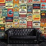 Walplus 152x161 cm Adhesivos de Pared 'Vintage Letrero Metal Collage' 1 Paquete extraíble Autoadhesivo Arte Mural VINILO DECORACIÓN HOGAR BRICOLAJE Living Oficina Dormitorio Decor papel pintado,