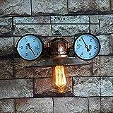 Aplique de pared de tubo de agua, SUN RUN Lámpara de pared industrial de metal Vintage con estilo retro para barra, cocina, sala de estar y dormitorio, lámpara de socket E26