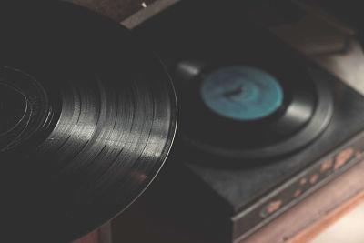 Discos de vinilo antiguos